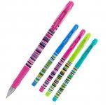 Ручка кулькова Axent Stripes. Пластиковий корпус, металізований наконечник. Рельєфна область тримання. Пишучий вузол - 0,5мм. Колір чорнила: синій. (ab1049-10-a)