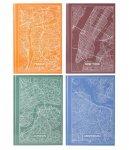 Книга записна у твердій обкладинці, серія Maps Prague, Формат А4, 96 аркушів у клітинку. Колір: АСОРТІ (8422-ххх-a)