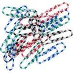 Скріпки кольорові ЗЕБРА, 28мм, 100 шт.в пласт.упаковці (BM.5071)
