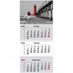 Календар настінний квартальний 2022 р., 3 пружини, Маяк (8803-01-a_