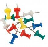 Кнопки-цвяшки, кольорові, 50шт. Пластиковий контейнер. (4213-a)