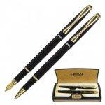 Комплект ручок (перо+ролер) в подарунковому футлярі L, чорный  (R12223.L.RF)