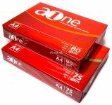 Бумага А4,  A-ONE (Индонезия), 80г/м2, 500 листов,  класс