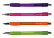 Ручка кулькова автоматична BRIGHT, 0,7 мм, пласт.корпус, гум.грип, сині чорнила (BM.8225 )