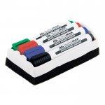Набор: 4 маркера + губка для сухостираемых досок,  BM.8800-84