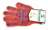 Перчатки  DOLONI  вязка в 3 нити (ладошкас ПВХ рисунком, пара),  45514