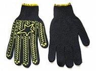 Перчатки  DOLONI  вязка в 53 нитей (ладошка с ПВХ рисунком, пара),   45518