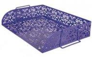 Лоток горизонтальний Barocco металлический фиолетовый (BM.6253-07)