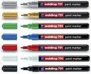 Маркер Paint Edding e-791,  1-2 мм, круглый, ассорти (е-791/ хх)