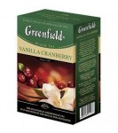 Чай черный Greenfield VANILLA CRANBERRY, black tea, list, 100 гр