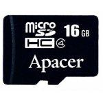 Карта памяти Apacer microSDHC 16GB Class 4 no adapter  (AP16GMCSH4-RA)