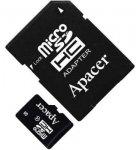 Карта памяти APACER microSDHC 16GB Class 4+adapter (AP16GMCSH4-R )