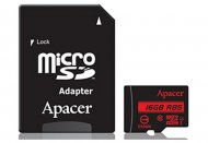 Карта памяти Apacer microSDHC 16GB UHS-I U1+adapter (R85MB/s)