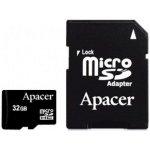 Карта памяти Apacer microSDHC 32GB Class 4+adapter (AP32GMCSH4-R )