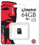 Карта памяти Kingston microSDXC 64 Gb UHS-I no ad U1 (R45, W10MB/s)
