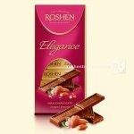 Шоколад Roshen Elegance темний молочний з подрібненим мигдалем 100г  (0146278)