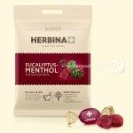 Карамель HERBINA+ евкаліпт-ментол з м'ятою та соком вишні 80г (0147734 )