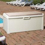 Комод мультифункциональный с подушкой Santorini Plus 550 л, молочно-белый, 148x72x64h см, TOOMAX