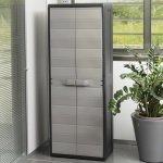 Шкаф 2-х дверный Elegance S, 65x38x171h cm, черный/тепло-серый, Toomax