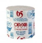 Бумага туалетная ОБУХОВ, без гильзы, серая (30040)