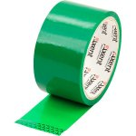 Лента клейкая упаковочная зеленая, ширина 48 мм, длина 35 м. Толщина 40 мкм.Упаковка - запайка .   3044-04-A