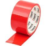 Лента клейкая упаковочная красная, ширина 48 мм, длина 35 м. Толщина 40 мкм.Упаковка - запайка .   3044-06-A