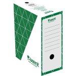 Бокс архивный из гофрокартона. Размер 350*255*80мм. Цвет: зеленый. Упаковка: пакет.   1731-04-A