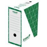 Бокс архивный из гофрокартона. Размер 350*255*100мм. Цвет: зеленый. Упаковка: пакет.   1732-04-A