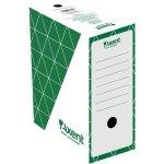 Бокс архивный из гофрокартона. Размер 350*255*150мм. Цвет: зеленый. Упаковка: пакет.   1733-04-A