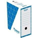 Бокс архивный из гофрокартона. Размер 350*255*150мм. Цвет: синий. Упаковка: пакет.  1733-02-A