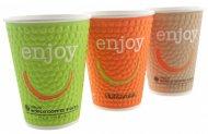 Стакан для горячих напитков Huhtamaki Enjoy, 250мл, 37 шт, термо- бумага (DW9)  41694