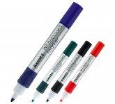 Набор маркеров для досок, 4 шт. в блистере. Чернила на водной основе, не токсичны. Круглый пишущий узел 2 мм.   2551-40-A