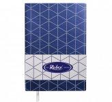 Блокнот деловой RELAX А5, 96л., чистый, обложка искусственная кожа, т.-синий  BM.295001-03