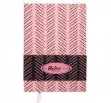 Блокнот деловой RELAX А5, 96л., чистый, обложка искусственная кожа, розовый   BM.295001-10