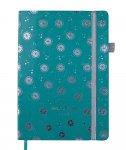 Блокнот деловой RELAX А5, 96л., чистый, обложка искусственная кожа, мятный  BM.295001-38