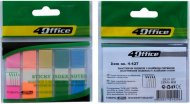 Закладки - разделители, клейкие, 12 х 45 мм, 5 цветов по 20л., PP, 4-427, 4Office  (4-427)