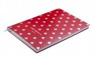 Блокнот деловой RELAX А5, 96л., клетка, обложка искусственная кожа, красный (BM.295101-05)