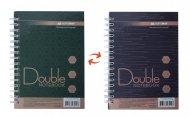 Книга записна DOUBLE, А6, 96 арк., клітинка, тверда ламінована обкладинка, зелена/коричнева (BM.24671101-86)