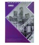 Колледж-блок METROPOLIS, А-4, 48л., клетка, картонная обложка, фиолетовый (BM.24445101-07)
