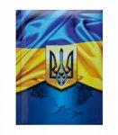 Записна книжка UKRAINE, А5, 80 арк., клітинка, тверда обкладинка, гл. ламінація з поролоном, темно-синя (BM.24582101-03)