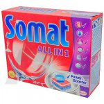 SOMAT  (ALL in 1)  таблетки для посудомоечных машин,  28шт. (49015)