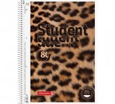 Колледж-блок А4 Premium, клетка, 80 листов, Animal (10 675 28)