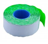 Цінник 26*16мм (1000шт, 16м), фігурний, внутрішня намотка, зелений (BM.281203-04)