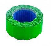 Цінник 22*12мм (500шт, 6м), фігурний, зовнішня намотка, зелений (BM.282201-04)