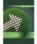 Тетрадь на пружине SPHERE А-4, 80л., клетка, картонная обложка, зеленый (BM.24452101-04)