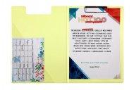 Папка-планшет. Материал обложки: Pastelini. Металлический клип. Внутренний прозрачный карман. Цвет: желтый (2514-26-a)