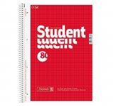 Колледж-блок А4, клет., 80 листов, красный (10-679 42)