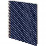 Блокнот на спирали Scale. Твердая PU обложка. формат А5, 80 листов в линию, плотность 80г/м2. Цвет: синий. (8447-02-a)