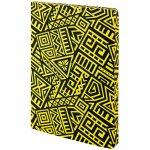 Блокнот двусторонний The Runes. Формат А5, 128 листов (64 в точку и 64 без линовки), бумага 80г/м2, запечатка среза в дизайн обложки. Цвет: желтый. (8452-08-a)