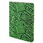 Блокнот двусторонний The Runes. Формат А5, 128 листов (64 в точку и 64 без линовки), бумага 80г/м2, запечатка среза в дизайн обложки. Цвет: салатовый. (8452-09-a)